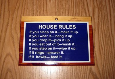 Trip RV house rules