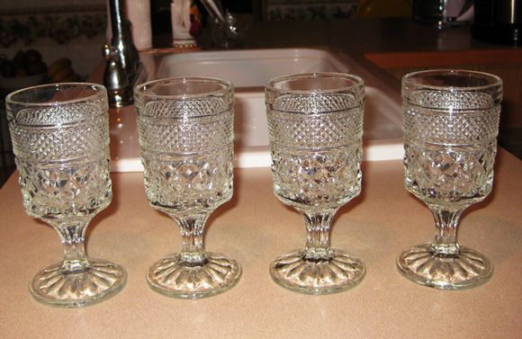 Thrifty buy wine glasses