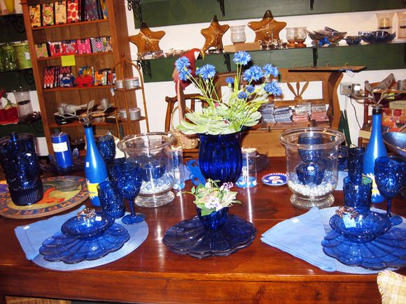 Blue tablesetting