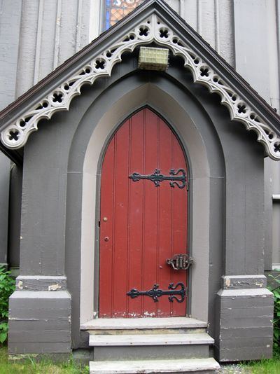 Chocolate church red door