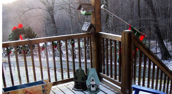 Christmas 2011 front deck