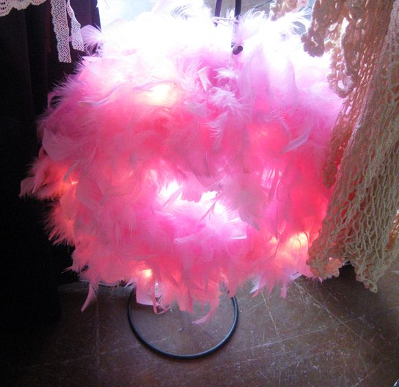 PS pink feather wreath