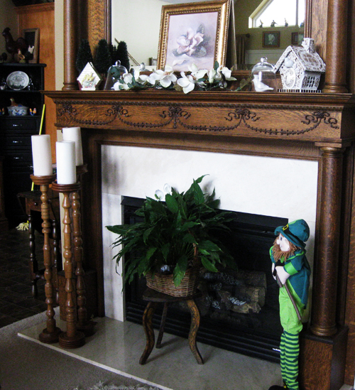 St Pat fireplace