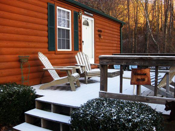 Christmas 2011 cabin deck