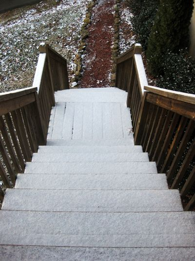 Christmas 2011 deck stairs