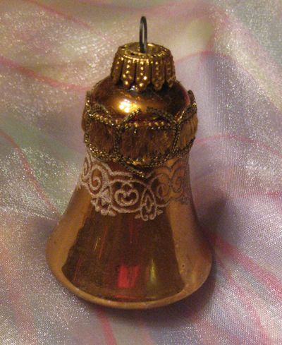 Vintage mms ornaments gold bell
