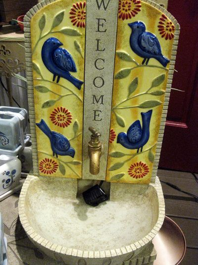 Bitmore bluebird fountain