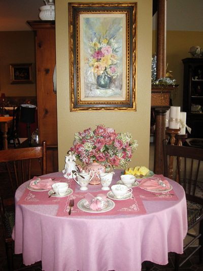 Roses tea party full view