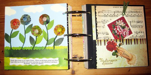Journal Hand made 2 pages