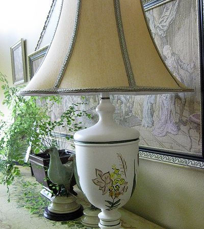 HP lamp yellow flowers