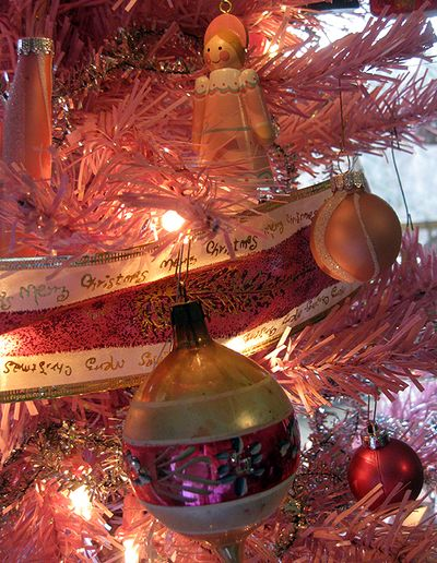 Pink Tree ornaments 3