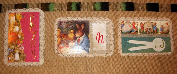 Easter tags with lace back