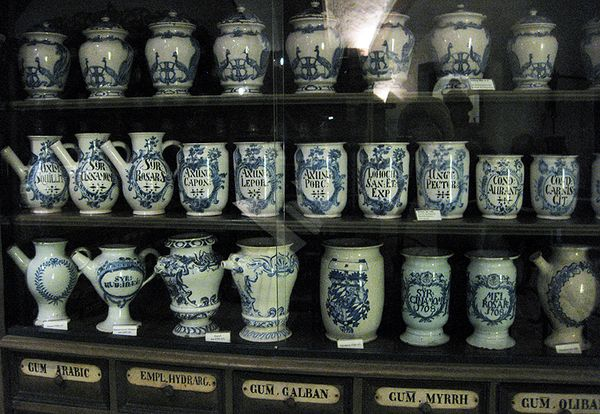 Pharmacy blue jars
