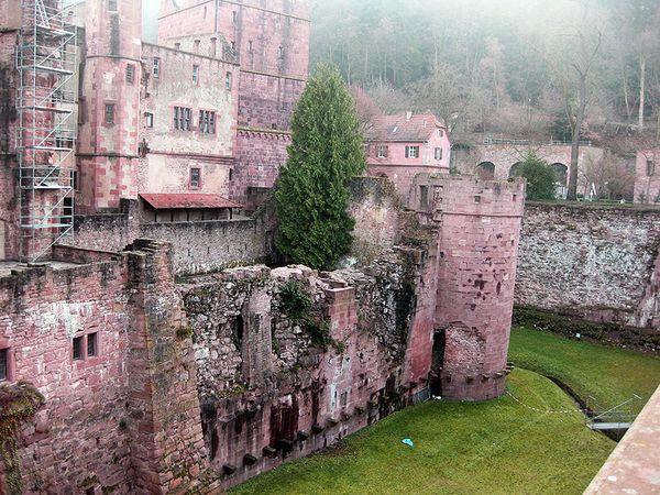 Heidleberg Castle moat