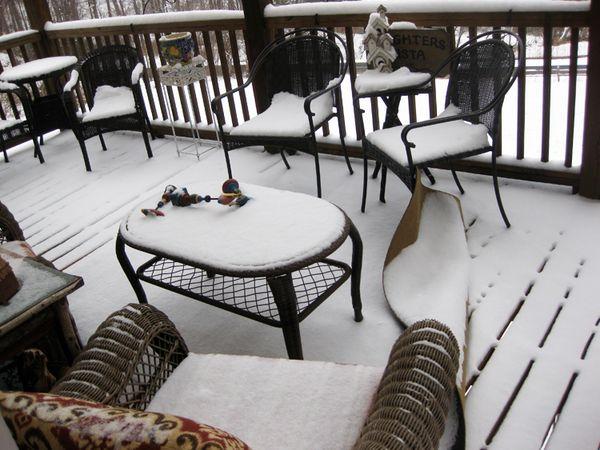Deck snow 1
