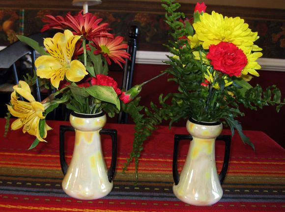 Vintage vases yellow