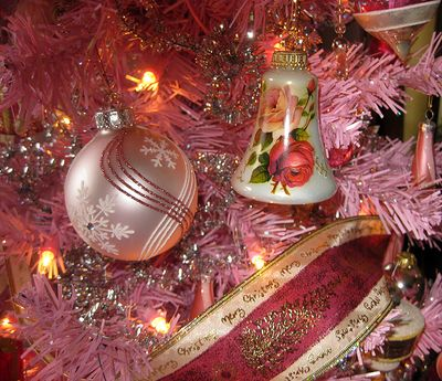 Pink tree ornaments 1