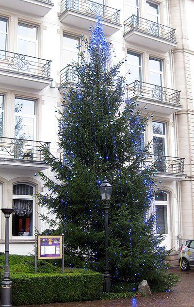 Blue Christmas tree