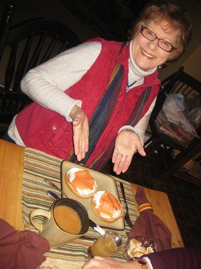 Sisters Diane breakfast