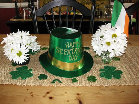St. Pat's Day centerpiece