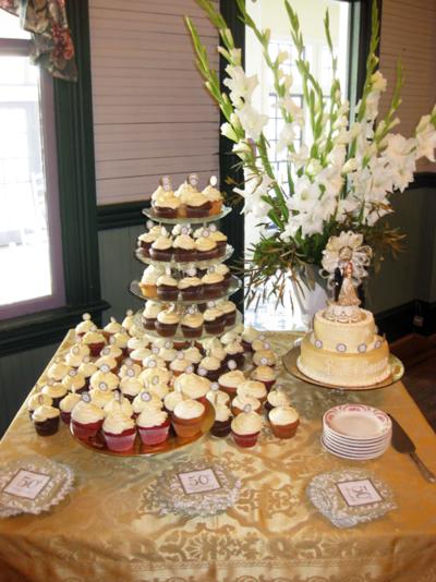 50th anniv cake table 2