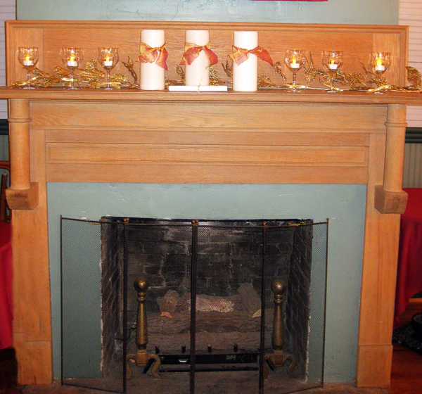 50th anniv mantel