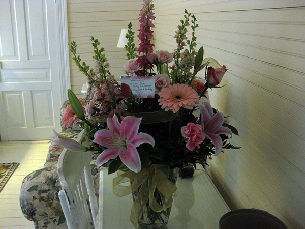 50th pink flowers