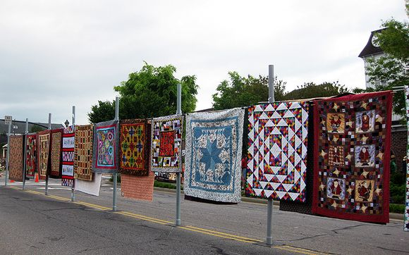 Airing of the quilts street view