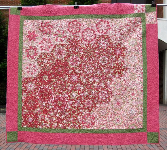 Airing of the quilts pink
