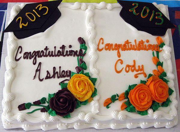 Grad party cake