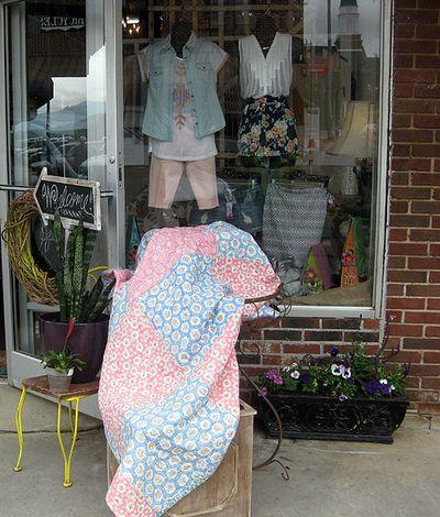 Blue quilt store