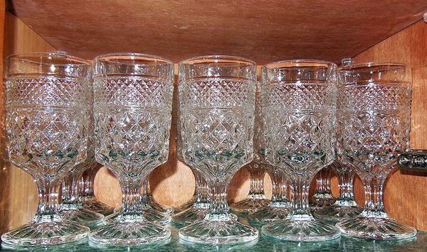 Water goblets vintage