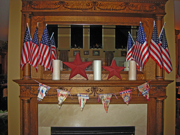 Mantel 4th of July