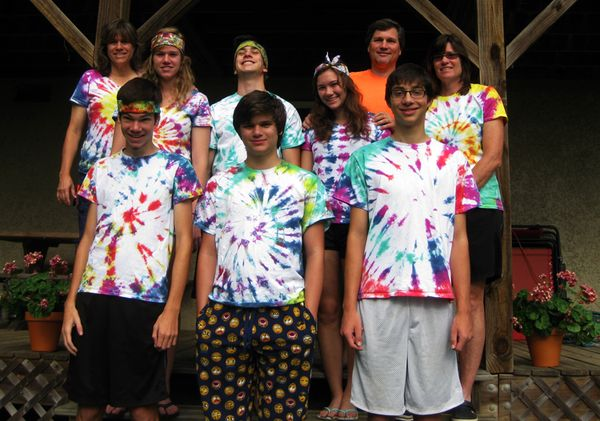Our gang in tie dye