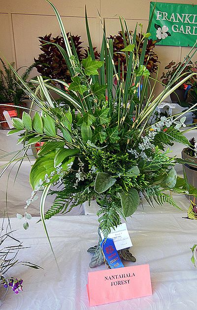 Flower show greenery arrangement