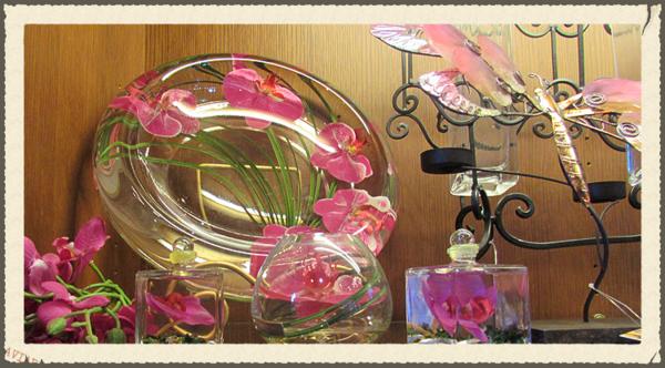 Pink b glass