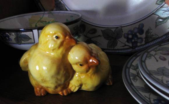 Pink Easter yellow chicks
