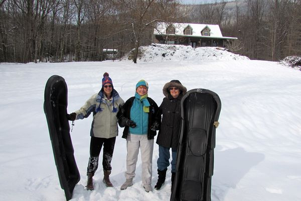 Snow three girls
