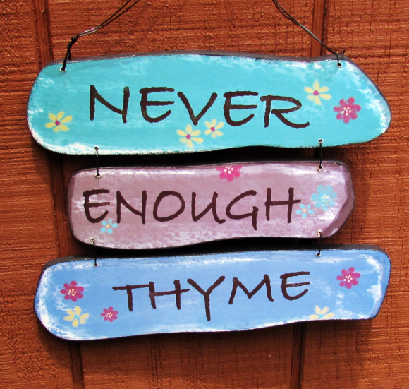 Shed thyme sign