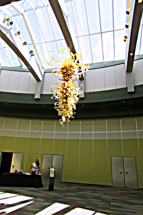 Lobby chihuly chandlier