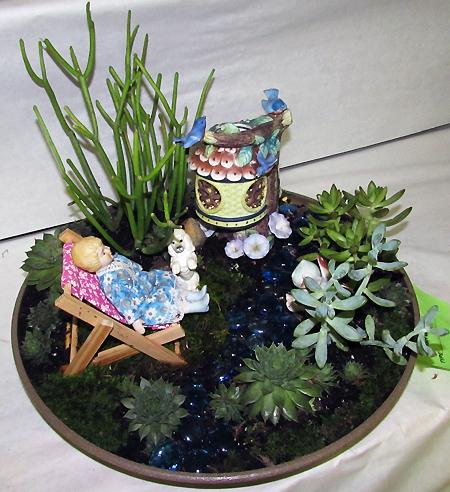 Flower show jeanne's dish garden