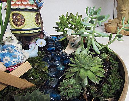 Flower show dish garden fairy