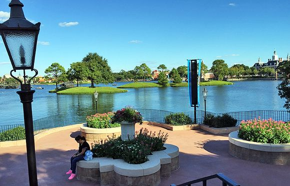 Pink  Epcot the lake