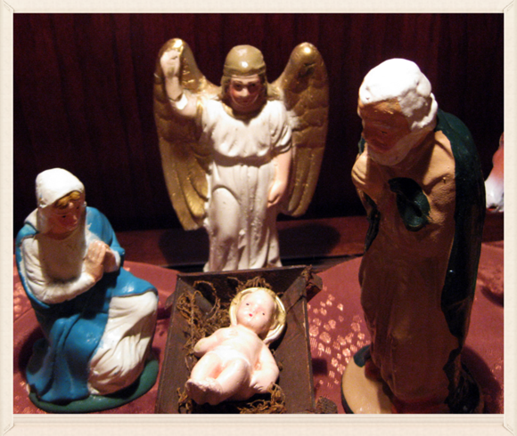 Nativity Mary close up