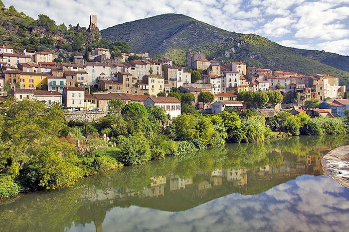 France village reflection