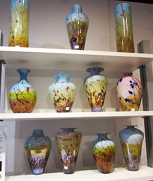 Pink vases Meijer gift shop