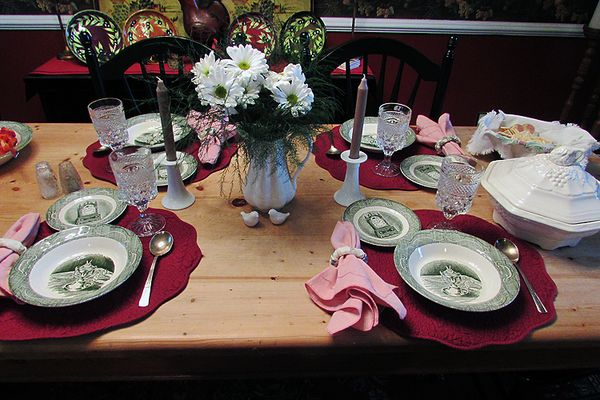 Homemade soup table setting 2