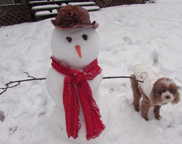 Snowman  and Cheri'