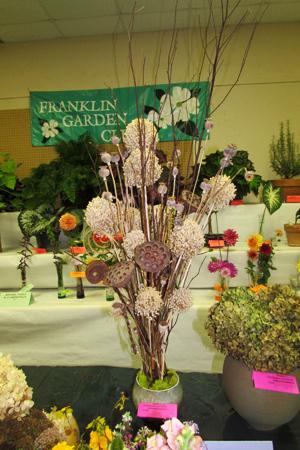 Flower show dried flowers